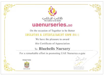Bluebells Certificate